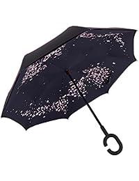 Paraguas impermeable innovador paraguas plegable cubierta reversa cubierta paraguas paraguas en forma de C paraguas manos libres para el mejor uso de los viajes y el coche