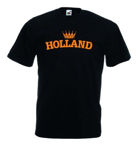 world-of-shirt Holland Krone Herren T-Shirt Trikot|L