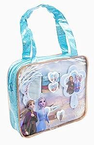 Disney Frozen 19384 - Juego de 2 Accesorios para el Pelo en Bolsa de PVC con Purpurina, Multicolor