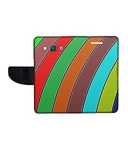 KolorEdge Printed Flip Cover For Samsung Galaxy A3 Multicolor -(45KeMLogo12329SamA3)