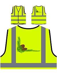 Pommes de pin et Feuilles Veste de Protection Jaune personnalisée à Haute  visibilité u498v 9ff6390a788