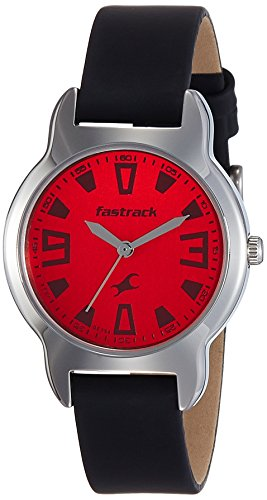 Fastrack Analog Red Dial Girls Watch -6127SL02 image