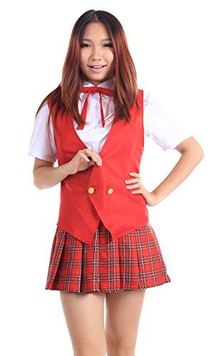 Sensei Halloween Kostüme (De-Cos Mahou Sensei Negima! Mahora High School Female Summer Uniform)
