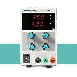 KKmoon 0-30V 0-5A Mini Fuente de Alimentación Regulado Laboratorio Digital DC Ajustable Salida de Tensión Actual STP3003 EU Plug