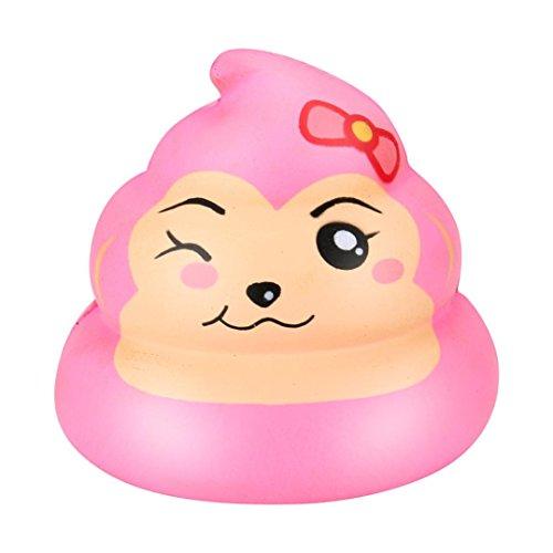 � Crazy Poo Scented Squishy Charme Langsam steigende 7cm Simulation Kid Spielzeug Fluffy Slime Spielzeug Kids Locker Floam Schlamm Scented Stress Relief Clay Toy (pink) (Nicht Süße Halloween-party Essen)