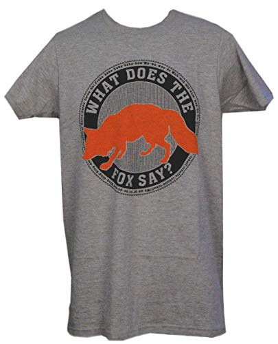 What Does The Fox Say Emblem T-Shirt Adult: Heather Grey ()