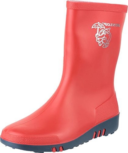 Dunlop K131510 Childrens Mini Elephant Wellington PVC Wellies Boot Red/Black