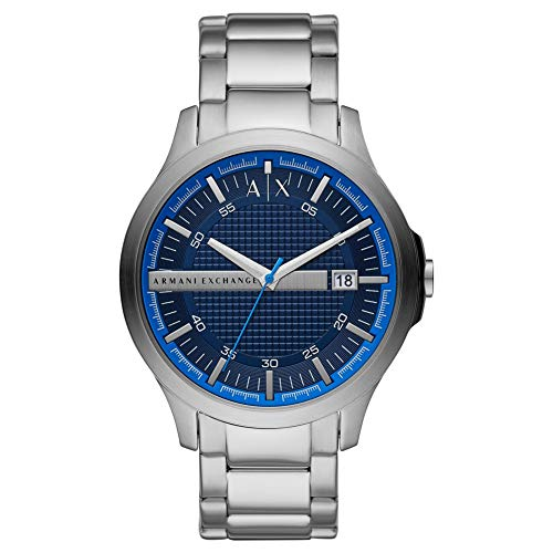 Armani Exchange Herren Analog Quarz Uhr mit Edelstahl Armband AX2408