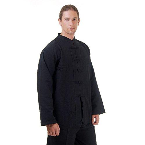 Kung Fu, Tai Chi & Meditations Shirt Jacke Baumwolle Größe M Schwarz