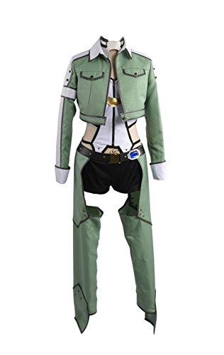 Sword Art Online Alfheim Online Sinon Asada Shino Cosplay Kostüm Damen Jacke Grün XS (Kostüm Grüne Jacke)