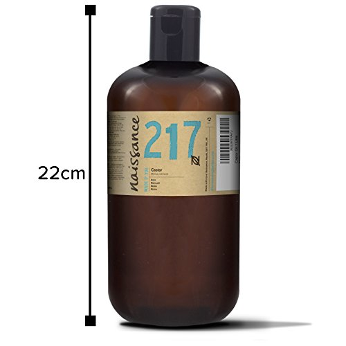 41Iqb2juDIL - Naissance Cold Pressed Castor Oil 1 L - Vegan, Hexane Free, No GMO