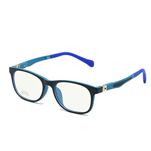 Kinder Brille TR90 Größe 45 Safe Biegsam mit Federscharnier Flexible Optischen Rahmen Jungen...