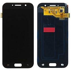 SHEAWA Ecran LCD Vitre Tactile Complet Luminosité de l'écran réglable pour Samsung Galaxy A5 2017 A520 avec Outils Noir
