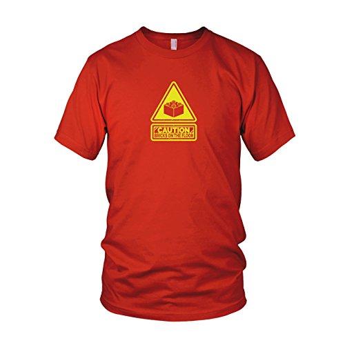Caution: Bricks on the Floor - Herren T-Shirt Rot