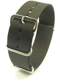 ZeitPunkt ZP-NTNY-sw-18 - Correa de nailon , color negro (18)