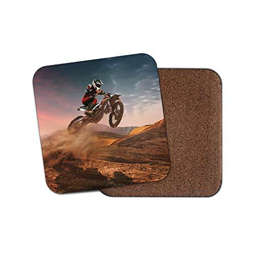 Preisvergleich Produktbild Motocross Biking Untersetzer - Motorrad Bike Racing Track Motorrad Geschenk 16996