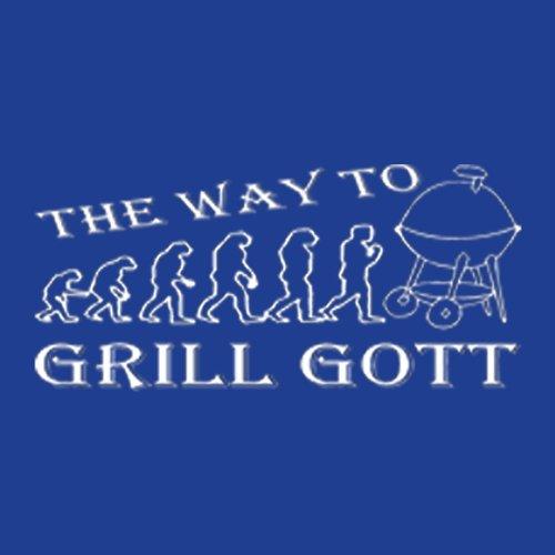 Grillshirt: The way to Grill Gott - grillen T-Shirt Fb royal-blau Royal-Blue