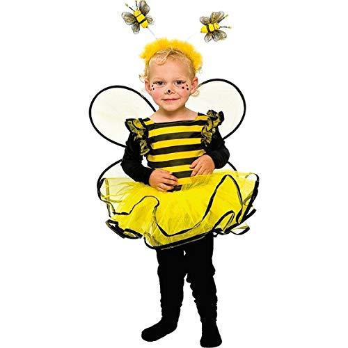 Baby und Kleinkinder Kostüm Biene zu Karneval Fasching Gr.86 (Bumble Bee Kostüm Kleinkind)