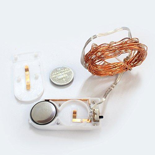 CMYK® 2 Stück 30er LED-Lichterkette warm-weiß Innen Micro Draht Batterie-betrieben 9.8 Ft/3M - 5