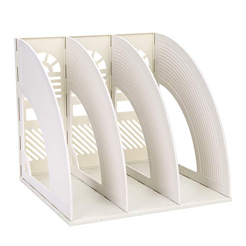 Portariviste in plastica, da scrivania, con 3 scomparti, rimovibile 25.5 x 23.6 x 26.3cm(LxBxH) Grau