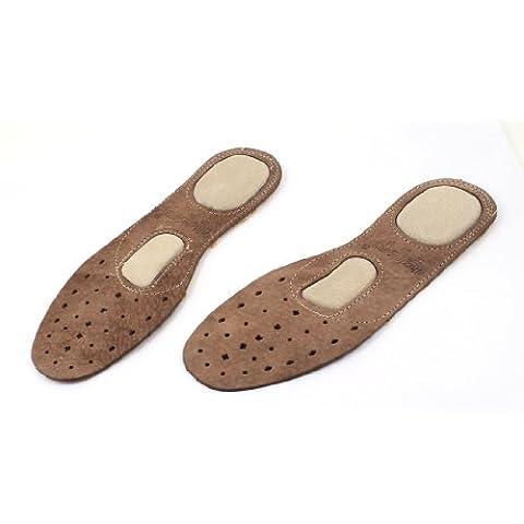 sourcingmap® Faux cuir marron paire chaussures semelles intérieures massage nous Pads 5.5 pour hommes