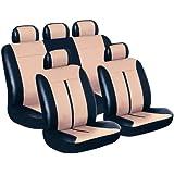Eufab 28289 Buffalo - Fundas de cuero sintético para asiento, color negro y beige