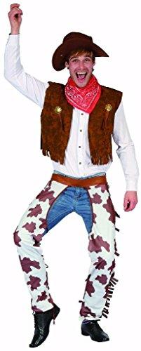 YOU LOOK UGLY TODAY Karneval Halloween Cowboy Kostüme Costumes für Herren Erwachsene - M/L - (Kostüm Für Cowboy Männer)
