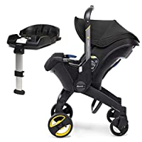 Doona Car Seat and Pram, Nitro Black, Revolutionary 0+ Car Seat that Folds Between Car Seat & Pram in Seconds, ISOFIX Base Included. Car Seat H60cm x W44cm, Pram H99cm x 82cm. Perfect for Travelling