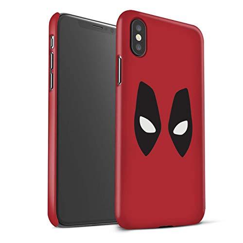 On Hülle/Case für Apple iPhone XS Max/Deadpool Maske Inspiriert Muster/Superheld Comic-Kunst Kollektion ()