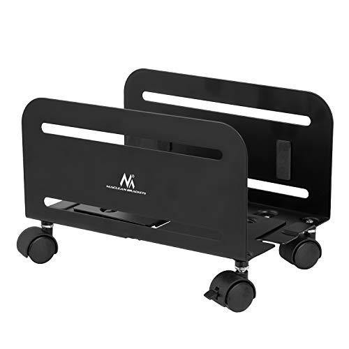 Maclean MC-851 Universal Computer Ständer mit Rollen Mobiler CPU-Ständer Computerwagen bis 10kg Rollwagen PC Desktop
