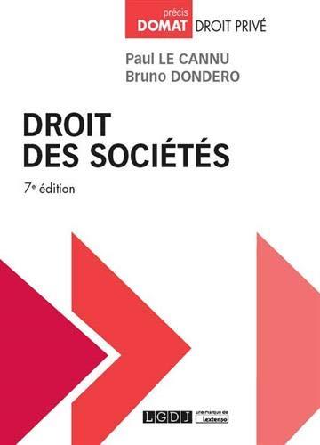 Droit des sociétés par Paul Le Cannu