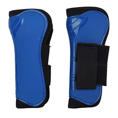 1 Paire Guêtres Equipements de Protection Soutien de Jambe Avant pour Cheval (Bleu)
