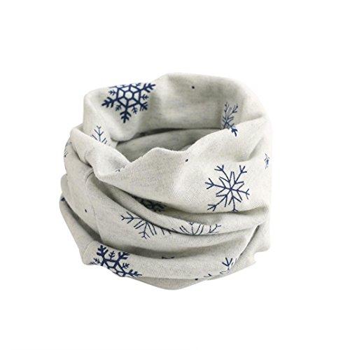 2-7 años Koly Otoño Invierno Niño Bufanda Animal Patrón Costura O-ring Lana Baby Scarf Cuello Calentador (gris-)