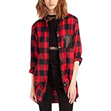 the best attitude cfa50 68e8b Amazon.it: camicia donna quadri rossa e nero - 3 stelle e più