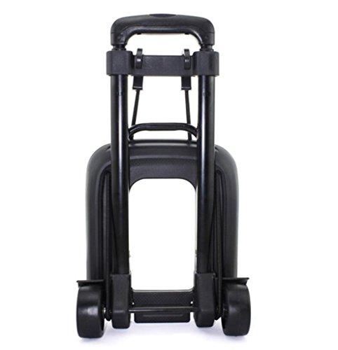 SSQCXO Casa leggero Lega di alluminio pieghevole Portatile viaggio shopping Carrello porta valigie/2 ruote