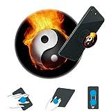 hongdes-Expanding Stand und Griff für Smartphones und Tablets Phone Kickstand für Jungen und Mädchen (schwarzes und weißes Yin-G-Yang in Brand)