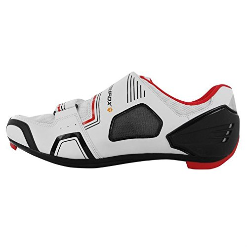 Muddyfox Mens RBS100 Cycling Shoes Breathable Cycle Bike Sport New White/Blk/Red UK 11