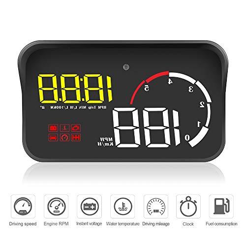 Display head up per auto OBD2 HUD Parabrezza Proiettore Temperatura dell'acqua Sovravelocità Allarme di tensione RPM