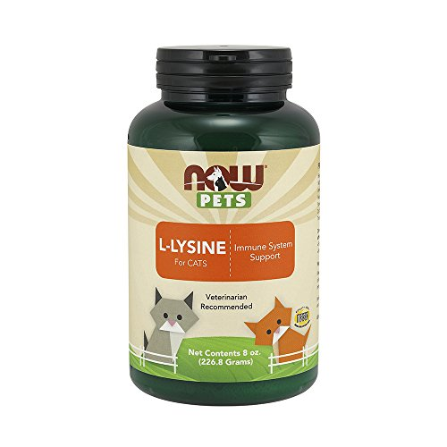 Now Foods Pet Cat L-Lysine Powder, 8 oz.