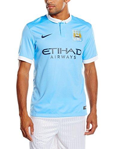 Nike 1º Equipación Manchester City 2015/2016 - Camiseta Oficial Hombre, Color Azul/Blanco / Negro, Talla S