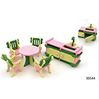 Luxury Home Decor Dollhouse 1Set Baby Wooden Dollhouse Furniture Dolls House Miniature Child Play Toys Gifts