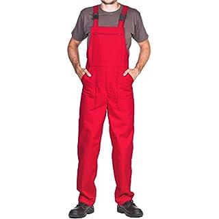 Arbeitslatzhose Herren, Arbeitshose - made in EU - latzhose arbeits latzhose (S, Rot)