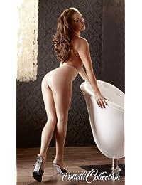 Cottelli Collection Stockings & Hosiery - erotische Strumpfhose für sie, Ouvert-Strumpfhose, glänzende Strumpfhose mit offenem Schritt, hautfarben