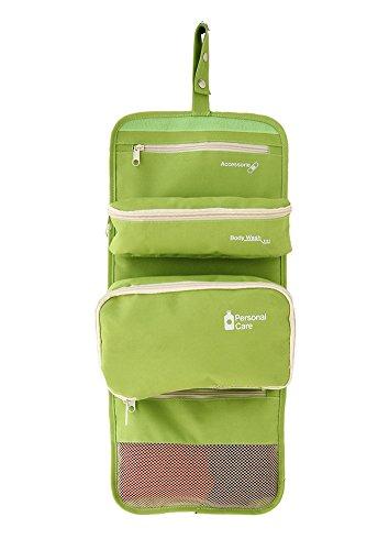 EchoFun faltbare Reisen Button hängen Taschen tragbare abnehmbare Taschen große Kapazität Taschen Kulturbeutel Tasche aufrollen green