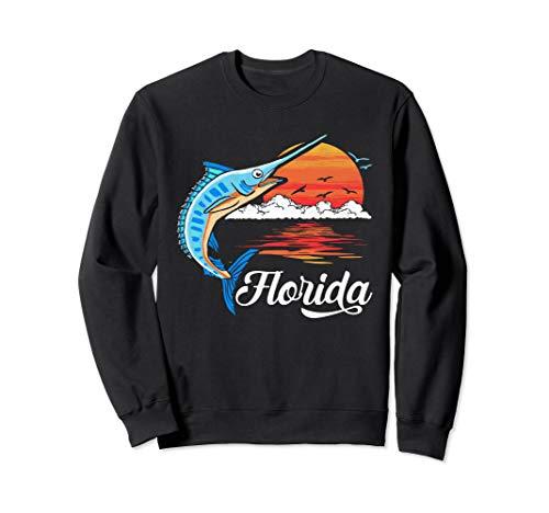 Florida Vintage Marlin and Billfish Retro Vibe Graphic Sweatshirt Florida-retro-sweatshirt