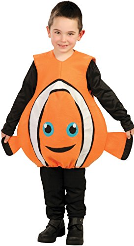 Costume Pesce Pagliaccio Nemo Bambino - Colore - Arancione, Taglia - Medium 7 - 9 Anni 127 - 132 cm