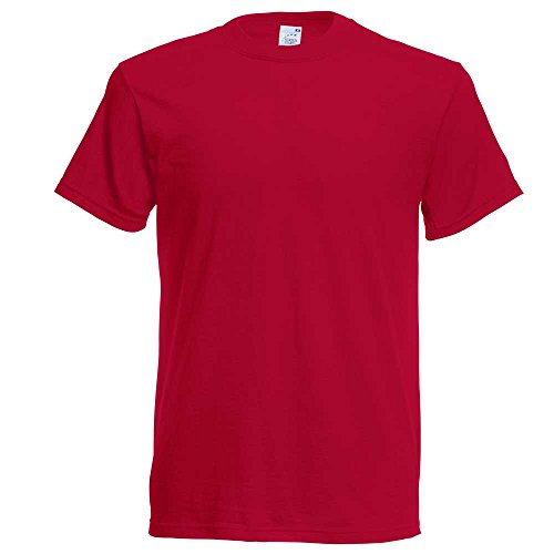 Fruit of the LoomHerren T-Shirt Autumn Red