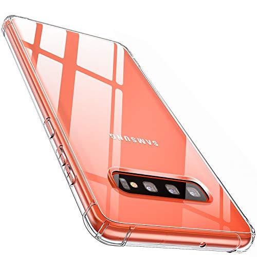 CANSHN Galaxy S10 Hülle, Hochwertig Transparent Weiche Durchsichtig Dünn Handyhülle mit TPU Stoßfest Fallschutz Bumper Case Cover für Samsung Galaxy S10 6.1 Zoll - Klar