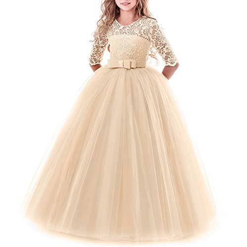 Vestito Elegante da Ragazza Festa Cerimonia Matrimonio Damigella Donna  Sposa Prima Comunione Battesimo Carnevale Cocktail Ballerina b105cff451d