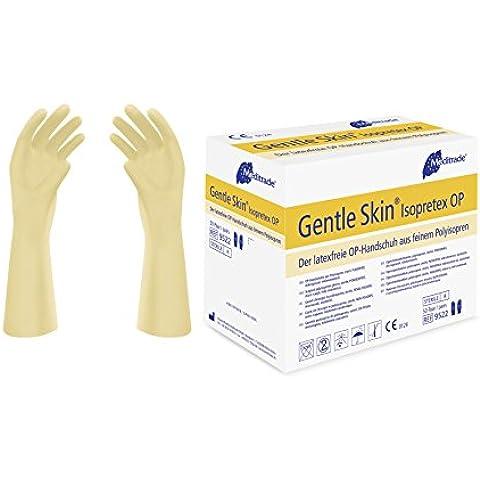 meditrade 952275Gentle Skin isop Retex polyisopren Op Guantes de esquí, estériles, sin látex, sin polvo, tamaño 7,5(100unidades)